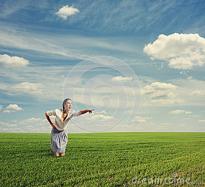 Fotografia zadziwiająca kobieta
