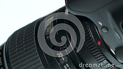 Fotolens - de Hand past Nadrukring aan stock footage
