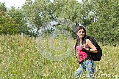 Fotvandrarekvinna