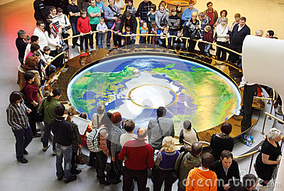 Foucault pendulum at the planetarium Editorial Stock Image