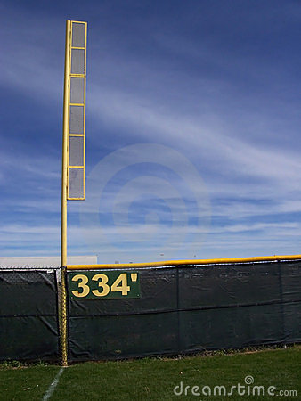 Free Foul Pole And Fence Royalty Free Stock Photos - 94898