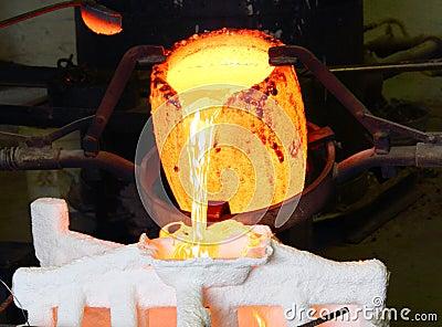 Foundry Molten Metal Pour
