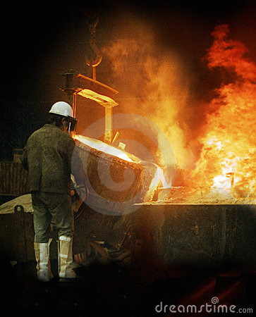 Free Foundry Workman Royalty Free Stock Photography - 3069167