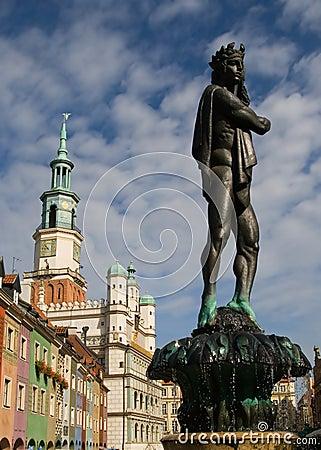 Fountain Apollo and city hall