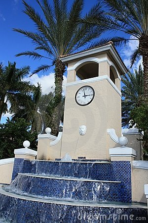Fountain with Clock