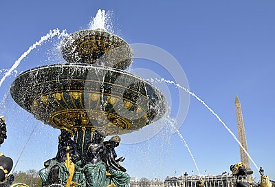 Fountain on the Concorde square, Paris