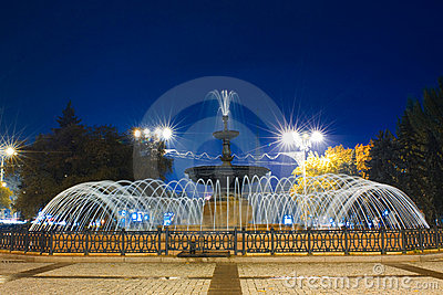 Fountain in Donetsk, Ukraine