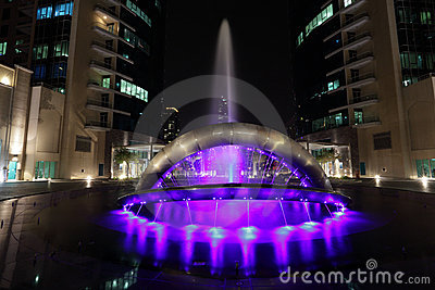 Fountain at Dubai Marina