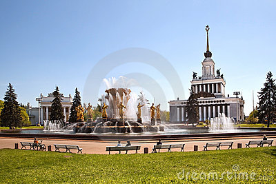 Fountain friendship of the nations, Moscow