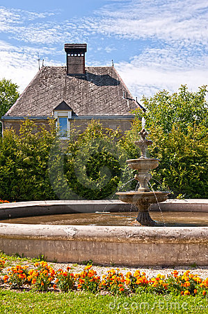 Fountain in a garden