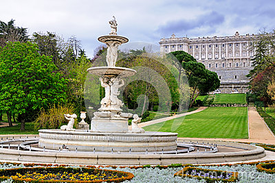 Fountain in Gardens of the Royal Palace, Madrid