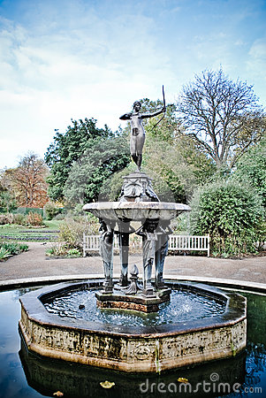 Fountain goddess Diana
