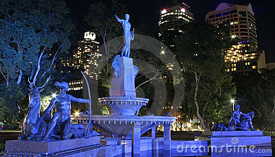 Fountain, Hyde Park, Sydney, Australia