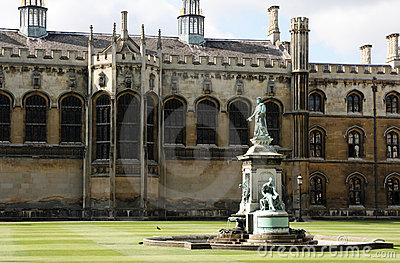 Fountain in King s College, Cambridge.