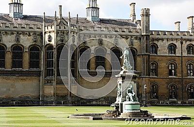 Fountain in King s College, Cambridge.