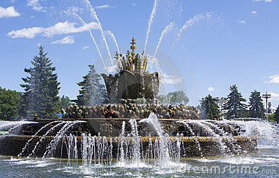 Fountain in National Exhibition Centre, Moscow