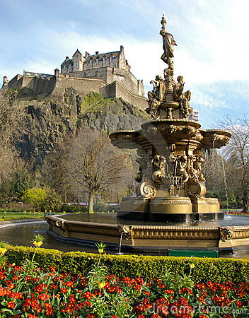 Fountain near Edinburgh Castle