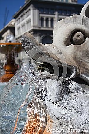 Fountain near Palazzo Montecitorio.