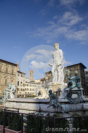 The fountain of Neptune Editorial Image
