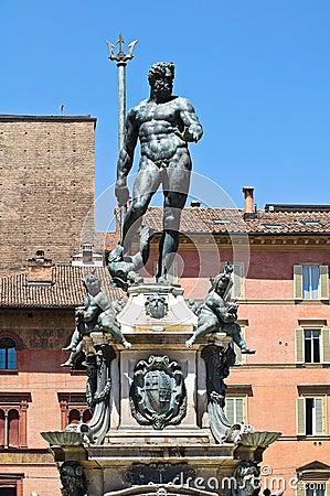 Fountain of Neptune. Bologna. Emilia-Romagna. Ital