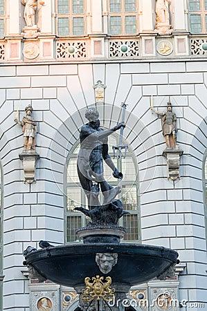 Fountain of the Neptune in Gdansk