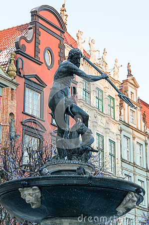 Fountain of the Neptune in Gdańsk