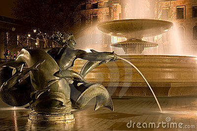 Fountain in the night