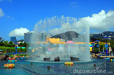 Fountain at ocean park hong kong Editorial Image