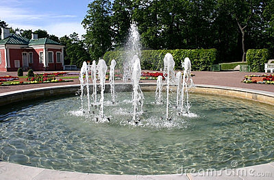 Fountain in park