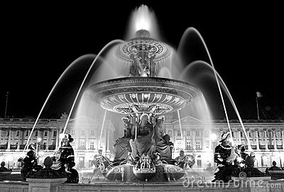 Fountain on Place de la Concorde in Paris