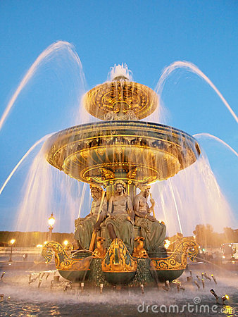 Fountain at the Place de la Concorde Paris