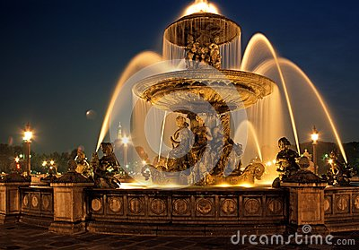 Fountain, Place de la Concorde, Paris.