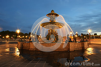 Fountain at the Place de la Concorde in Paris