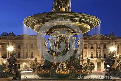 Fountain at the Place de la Concorde in Paris