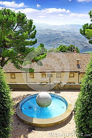 Fountain in Republic of San Marino, Italy