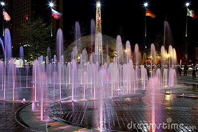 Fountain of Rings in Centennial Olympic Park Editorial Photo