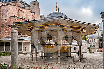 Fountain for ritual ablutions