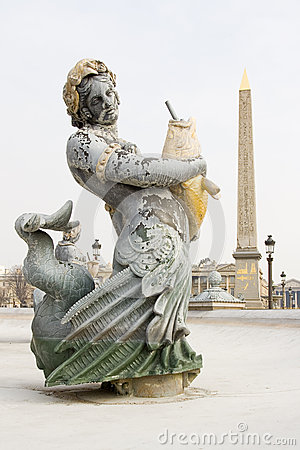 Fountain and Obelisk, Paris