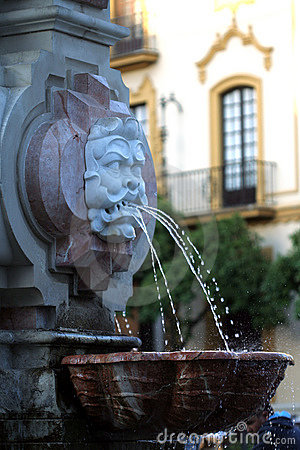 Fountain by Seville Cathedral