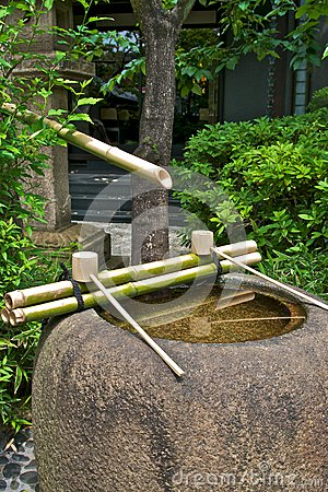 Fountain in Shinto temple
