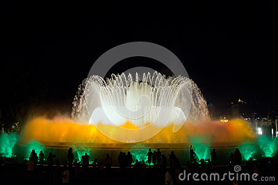 Fountain show in Barcelona