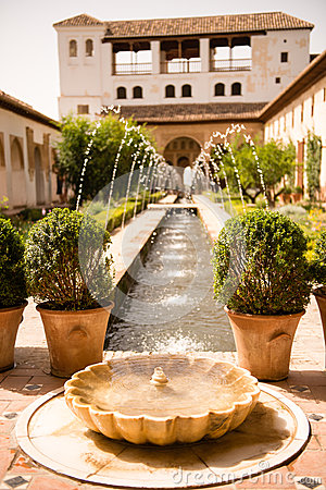 Fountain in a Spain patio