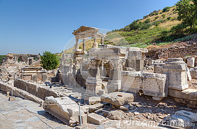 Fountain of Trajan, ancient Ephesus, Turkey