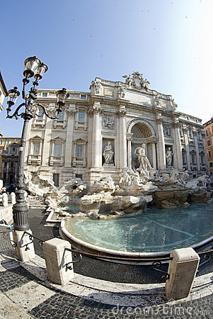 Fountain of trevi rome italy