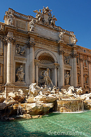Fountain of  Trevise  in Rome