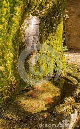 Free Fountain With Stone Face Royalty Free Stock Image - 49601496