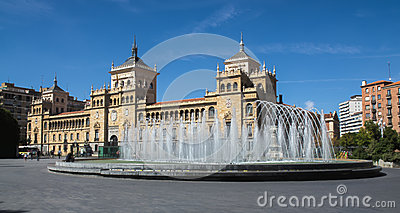 Fountain Zorrilla of Valladolid Editorial Stock Image
