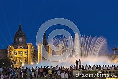 Fountains - Barcelona - Spain Editorial Photo