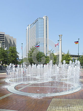 Fountains of Olympic park of Atlanta