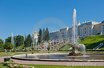 Fountains of Petergof, Saint Petersburg Editorial Photo